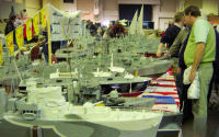 Views of the Glasgow War Ships winning display at the Blackpool Show.