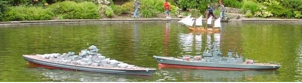 Boats on Strathaven Boating Pond